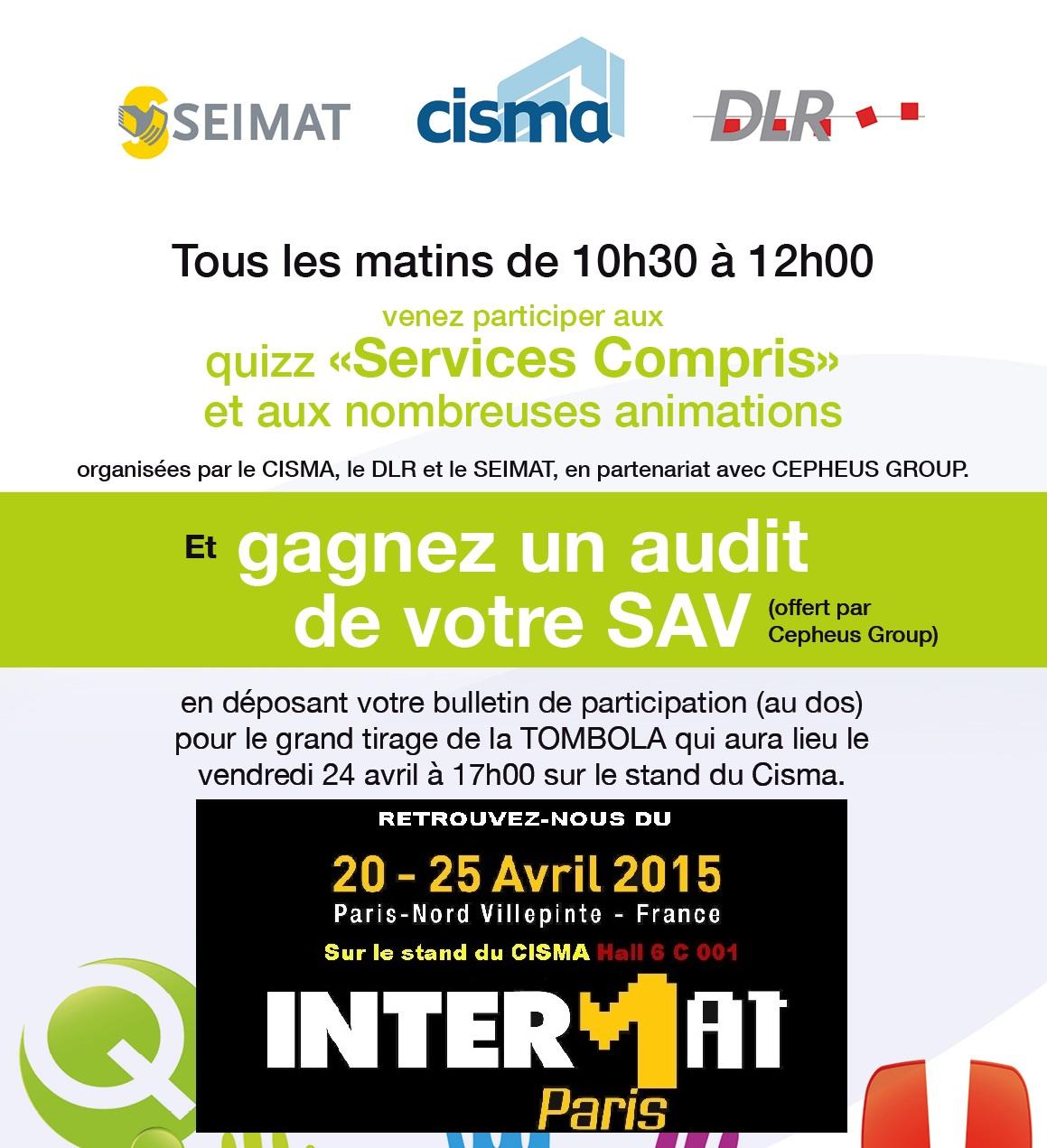 Cepheus Group est présent sur Intermat 2015 et organise une tombola pour gagner un audit SAV